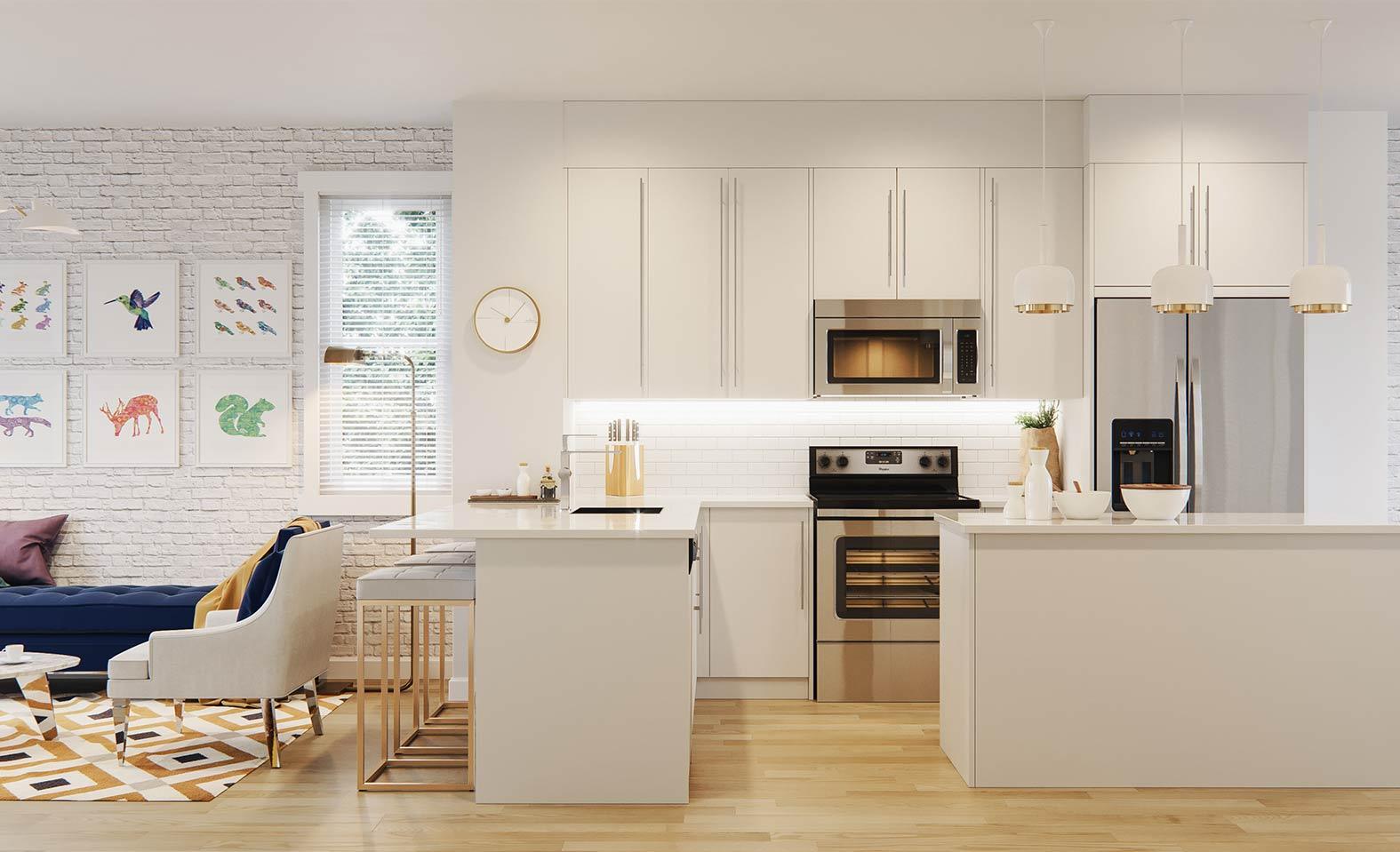 White open layout Kitchen