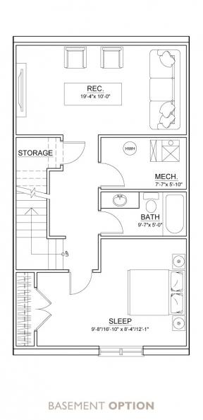 Carrington Street Towns - Floor Plan - Basement