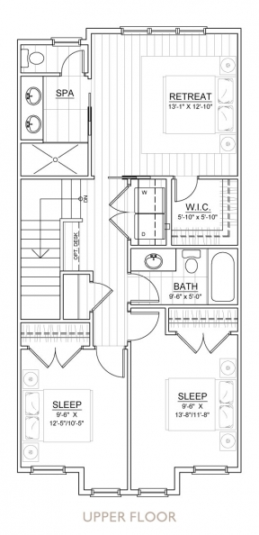 Carrington Street Towns - Floor Plan - Upper